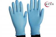 一次性乳胶手套蓝乳胶手套一次性劳保胶手套一次性乳胶手套