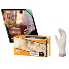 一次性医用橡胶检查手套 (经济型)乳白色 小号(S)