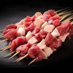 羊肉串 内蒙古新鲜羔羊肉 烧烤食材 烧烤羊肉串半成品170g*6左右