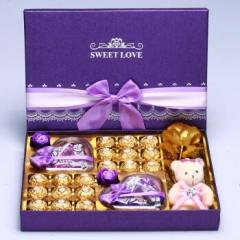 德芙巧克力礼盒装 费列罗巧克力紫此一生礼盒