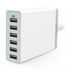 Anker 60W 6口USB充电器/多口充电器/充电头 适用于苹果安卓手机平板 白色