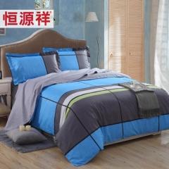 恒源祥家纺 纯棉四件套全棉四件套1.8m床上床品被套床单四件套
