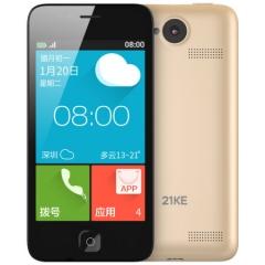 21KE MC002C 移动3G智能老人手机 金色