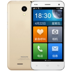诺亚信(NOAIN)A1 移动4G智能老人手机 双卡双待 金色