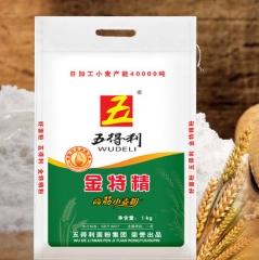 五得利金特精 烘培原料 农家高筋面粉 小麦粉 5000g