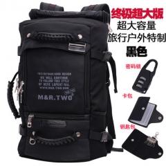 mrtwo男士背包双肩包男多功能户外旅行背包男超大容量旅游行李包