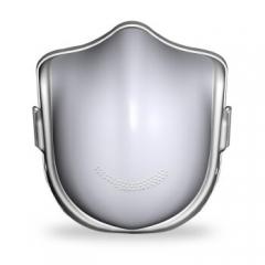 原森态 特别实用家居商务礼品 创意礼物健康 净化式防雾霾智能口罩 成人款-珠光白(含2片滤芯)