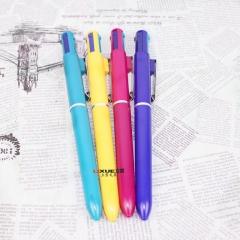 学习文具办公用品学习文具铁挂钩四色圆珠笔 0.7MM 办公用品