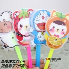 韩版夏季清新可爱风扇 卡通学生清凉扇子创意手折叠扇 大号7折扇