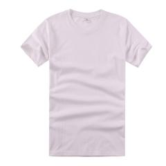 2016新品男士T恤160克白色纯棉短袖圆领文化衫 白色 M