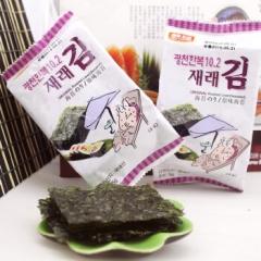韩国原装进口 韩福10.2 原味海苔15克 5袋