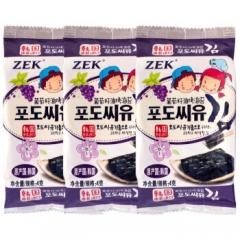 韩国进口 zek 葡萄籽油烤海苔 4g*15