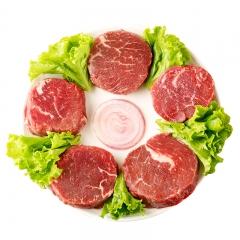 新疆巴尔鲁克原切家庭牛排套餐团购8片西冷菲力牛排1200g儿童牛排