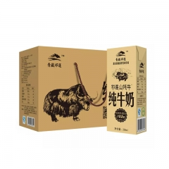 青藏祁莲牦牛纯牛奶250ml*12盒